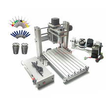 3 4 5 axis aluminum mini cnc router machine for wood embossed embossment pcb pvc DIY milling drilling engraving ball screw USB