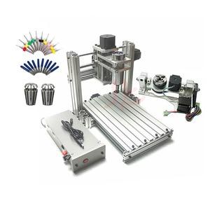 Image 1 - 3 4 5 ציר אלומיניום מיני cnc נתב מכונת עבור עץ בולט תבליט pcb pvc DIY כרסום קידוח חריטת כדור בורג USB