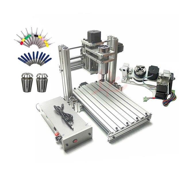 3 4 5 ציר אלומיניום מיני cnc נתב מכונת עבור עץ בולט תבליט pcb pvc DIY כרסום קידוח חריטת כדור בורג USB