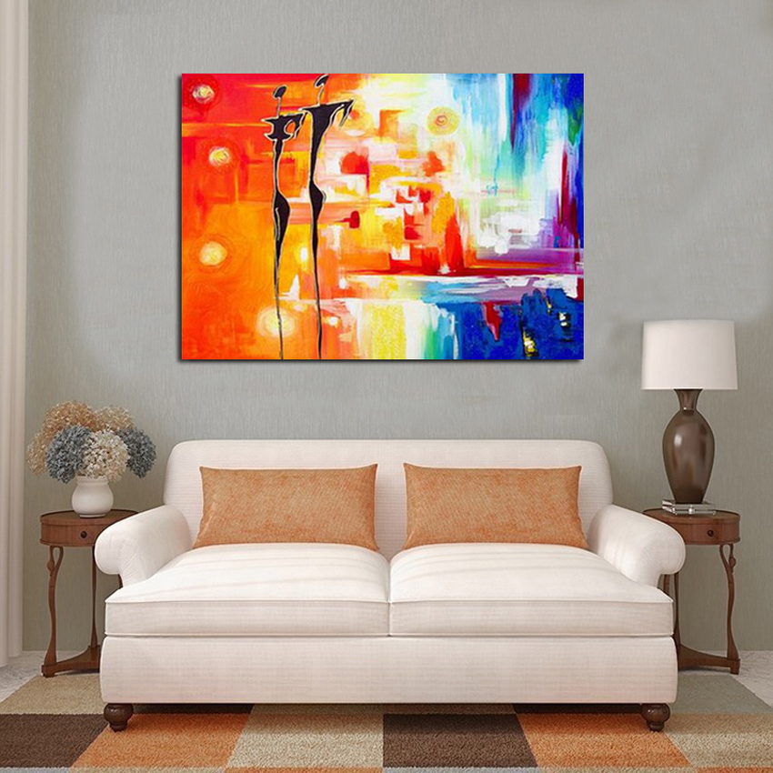 100 hand painted figures oil painting on canvas modern abstract unique design colorful oil painting for art home decor in Painting Calligraphy from Home Garden