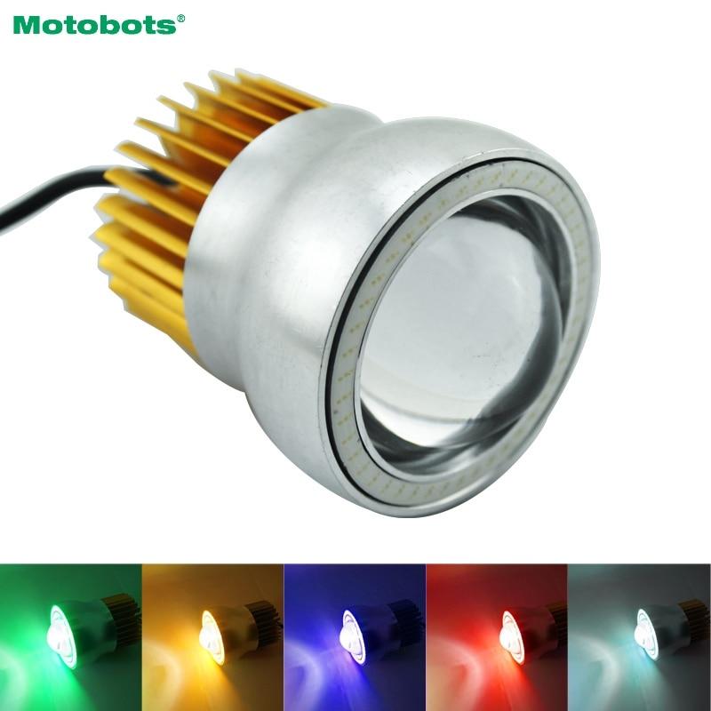 20Pcs Waterproof 30W U4 Motorcycle Embedding Angel Devil Single Eye Light Spot Flasher Headlight 5-Color #FD-4712
