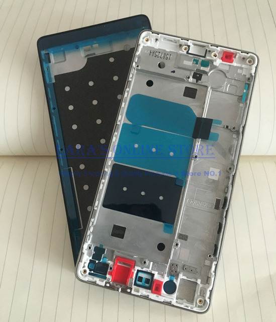 100% Original for HUAWEI Ascend P8 Lite Front LCD Supporting Frame + Middle Frame Chasis Housing with Adhesive +Side Buttons