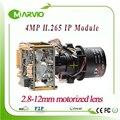 Full HD 2592*1520 módulo X4 4MP câmera PTZ IP zoom motorizado lente com RS485 wi-fi estendida + rede fio da cauda + IRcut