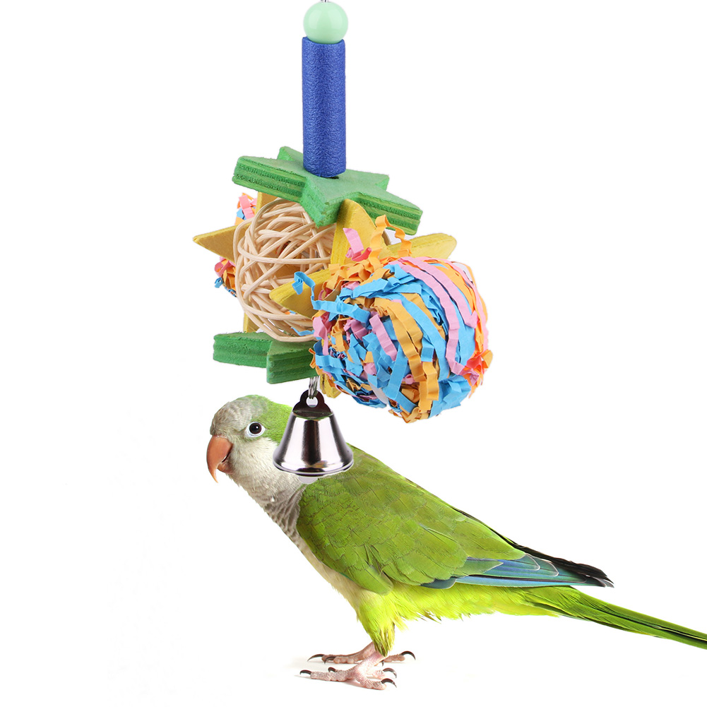 Foraging Bird Toy Parrot Cage Toys Cages Shredder Cockatiel Conure African Grey