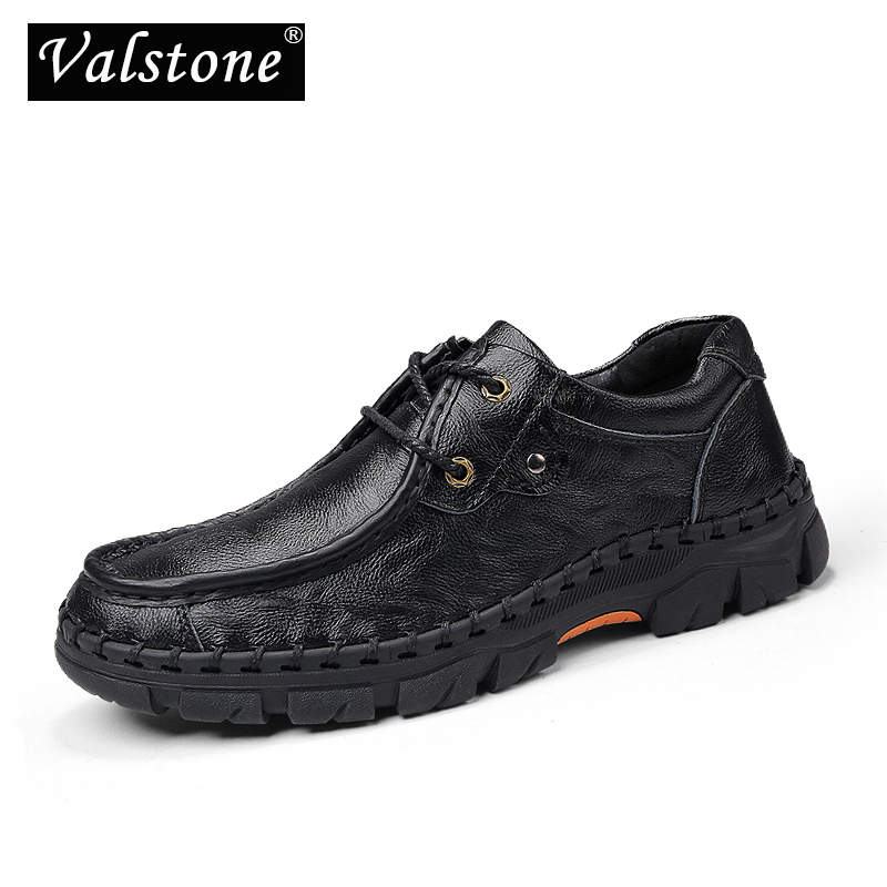 Clever Valstone Luxury Mens Genuine Leather Work Shoes Feet Protective Sneaker Antislip Leather Dress Shoes Quality Flats Plus Size 48 Matching In Colour Shoes