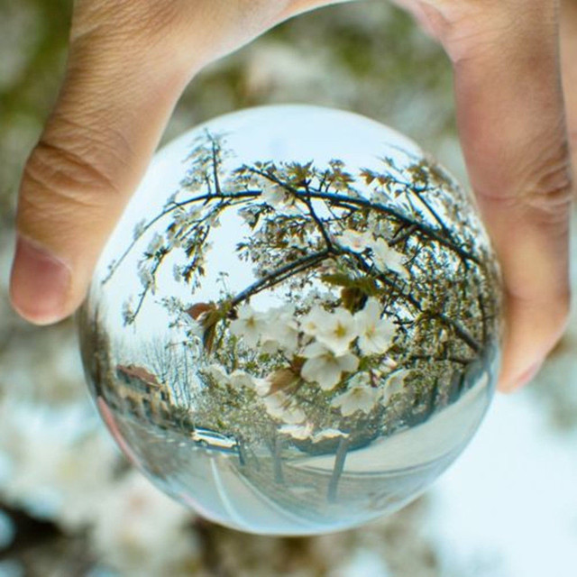 2019 HOT Clear Glass Crystal Ball Healing Sphere Photography Props Lensball Decor Props Photo Gift For Outdoor Photography K5