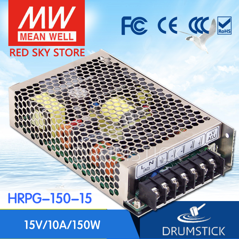 best-selling MEAN WELL HRPG-150-15 15V 10A meanwell HRPG-150 15V 150W Single Output with PFC Function  Power Supply