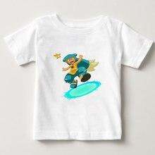 Детская Хлопковая футболка с коротким рукавом круглым вырезом