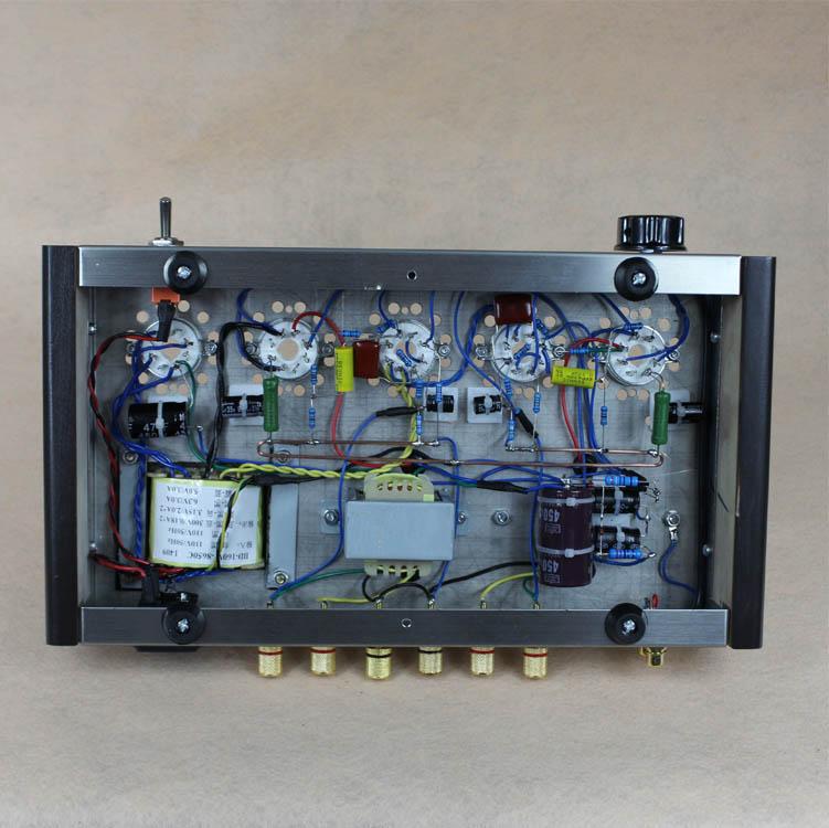 2019 Nobsound Home Audio Rohr Verstärker Edelstahl Fall 5Z4P + 6H8C + 6P3P Montiert Rohr Verstärker Ausgang 8W + 8W AC110V/220V