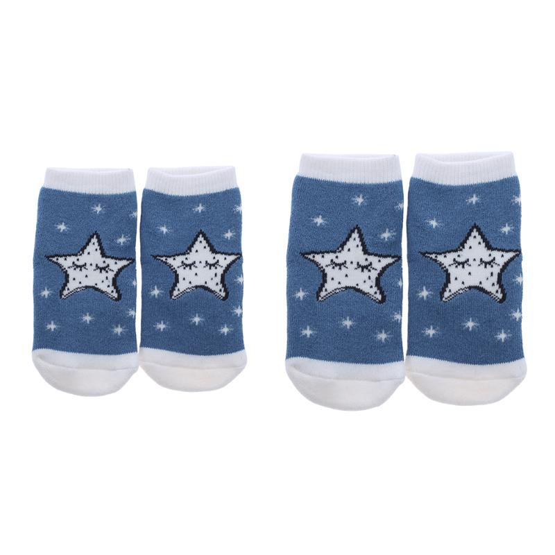 Baby Socks Chidren Winter Thicking Cotton Cartoon Moon Star Pattern Antiskid Socks Newborn Boys Girls Warm Socks