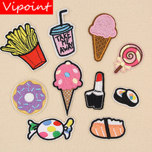 VIPOINT embroidery beverages patches foods badges applique for clothing XW-27