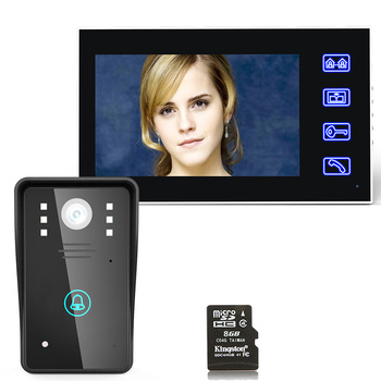 """MAOTEWANG 7"""" Recording DVR Video Door Phone Intercom Doorbell With 8G TF Card Touch Button Remote Unlock Night Vision"""