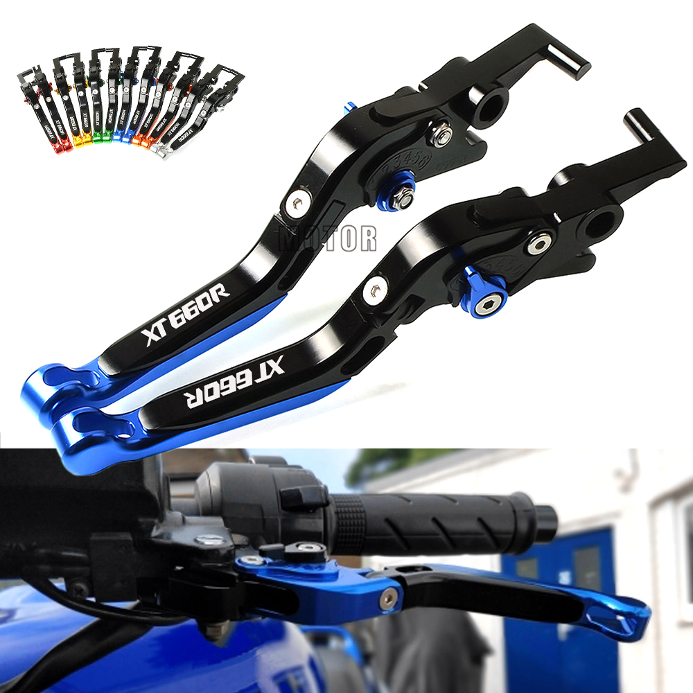 With Logo XT660R For YAMAHA XT 660 R XT 660R XT660 R XT660R 2004-2017 Brake Clutch Lever Motorcycle CNC Adjustable Folding Lever for honda crf 250r 450r 2004 2006 crf 250x 450x 2004 2015 red motorcycle dirt bike off road cnc pivot brake clutch lever