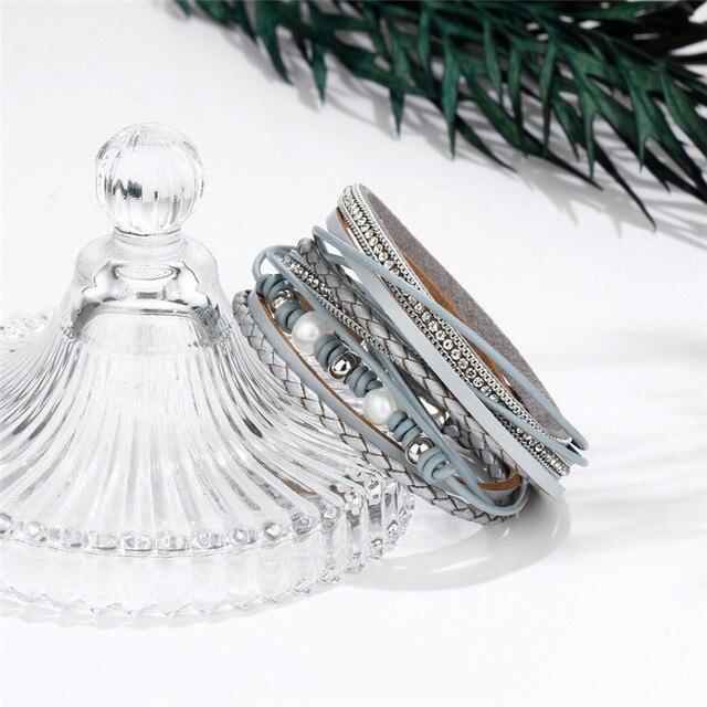 Janeyacy 2018 популярный новый модный многослойный женский браслет