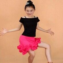 Children's Latin Dance Costumes Girls Fringed Dance Clothing Salsa Fringe Dance Dress Tango  Samba Dance Costume
