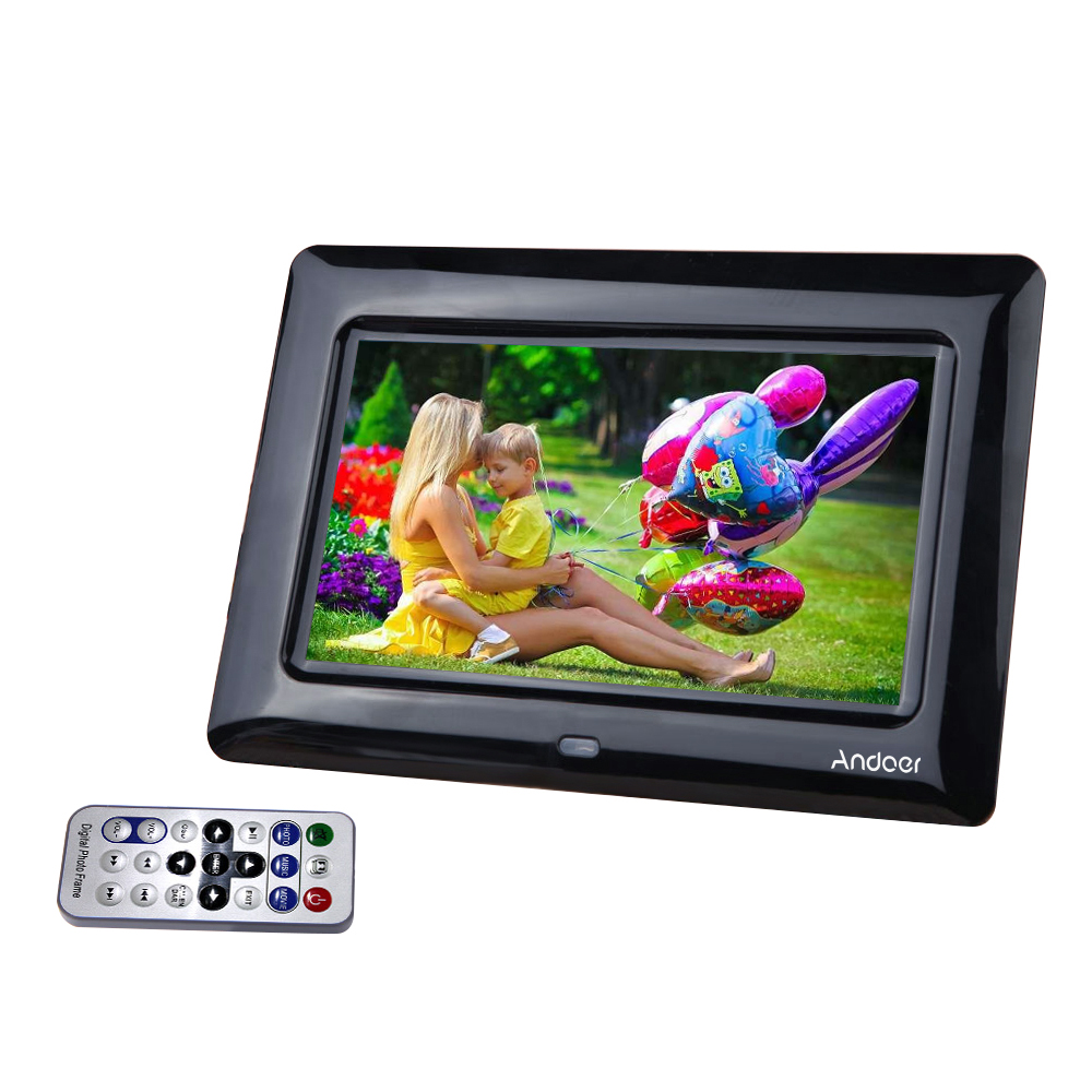 Andoer 7 \'\'HD TFT LCD Digitaler Bilderrahmen Lannguage mit Diashow ...