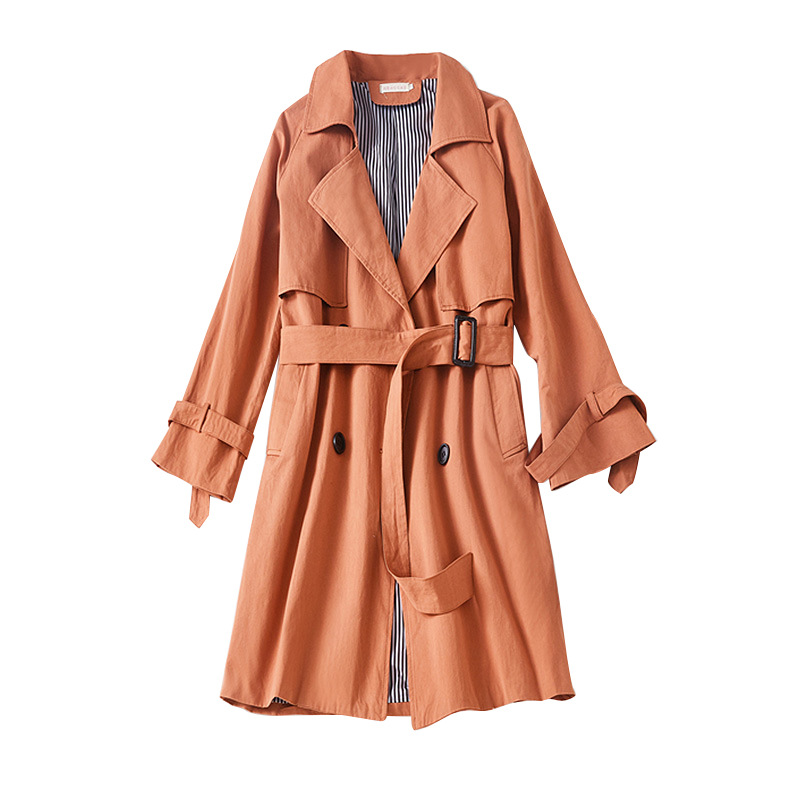 Pregnant women's fashion long trench coat Pregnant women's solid color cotton jacket Pregnant women spring and autumn coat pregnant women coat autumn and winter cotton fashion long section slim was thin feather cotton clothing thickened cotton jacket