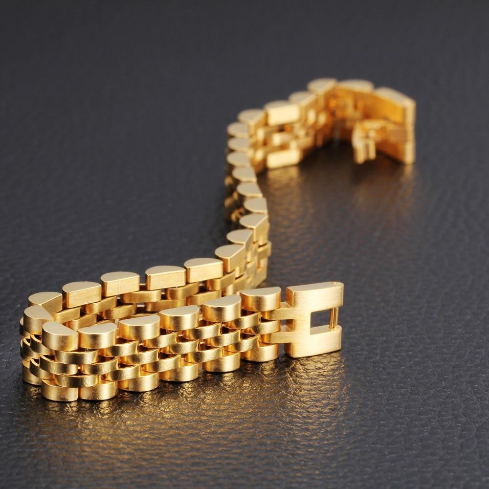 Luxury Italian 18k Gold Jewelry 20cm Men S Chain Bracelet New Trendy Real Plated Fashion Gift On Aliexpress Alibaba Group