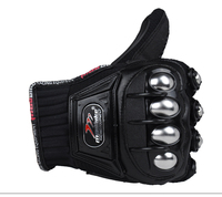 New Outdoor Sports Full Finger Knight Riding Motorbike Motorcycle Gloves 3D Breathable Mesh Fabric Men Leather