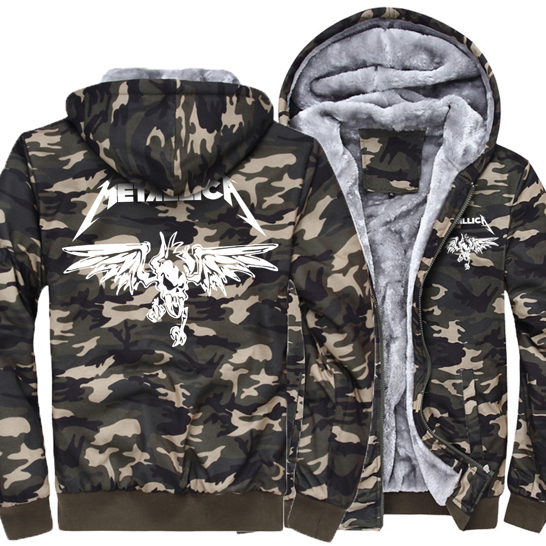 Winter Jacket Men 2019 New Fashion Thick Hoodies Mens Camouflage Raglan Sweatshirts Brand Men's Hip Hop Sportswear Hoodie Kawaii