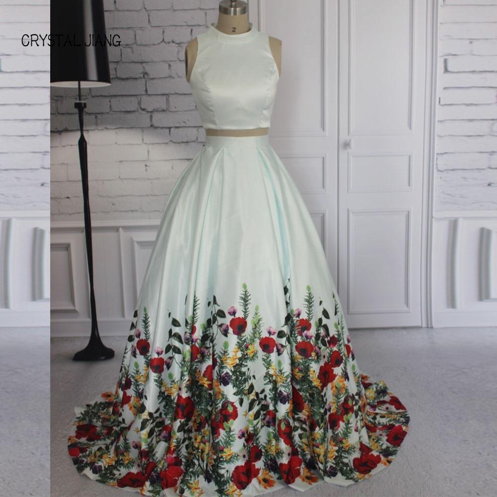 Floral Plus Size Prom Dresses 2018