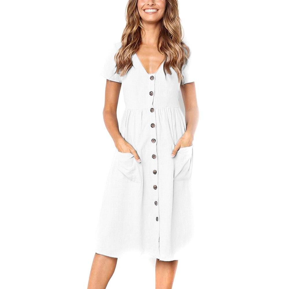 Button Striped Print Cotton Linen Casual Summer Dress 2020 Sexy Spaghetti Strap V-neck Off Shoulder Women Midi Dress Vestidos