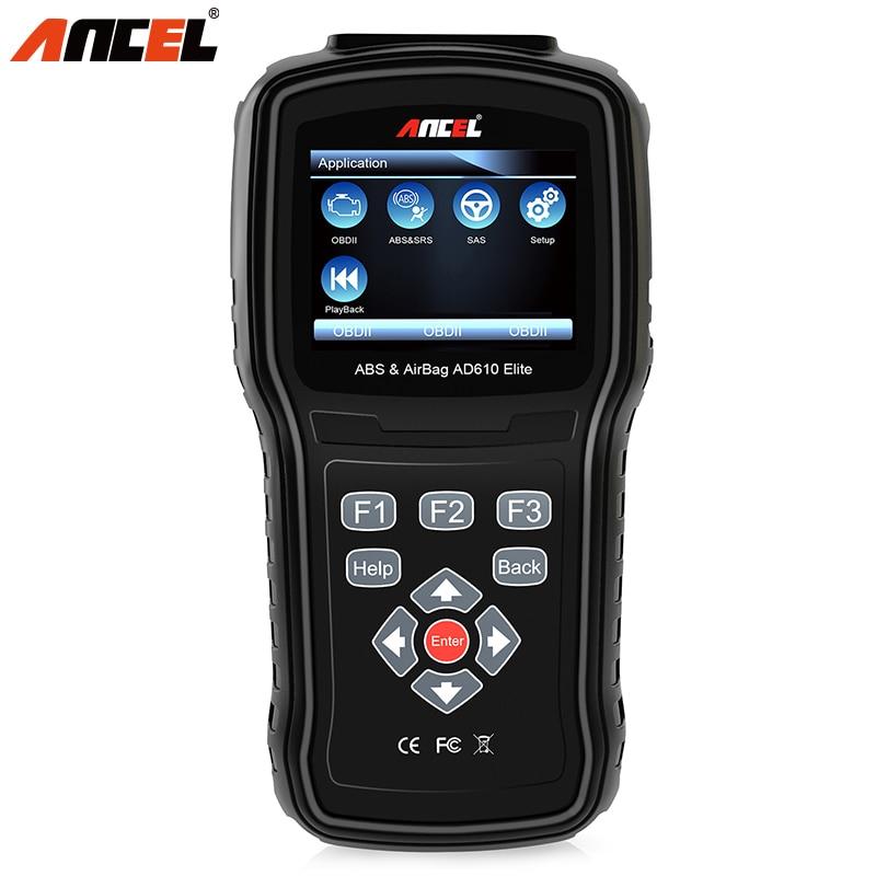 Ancel AD610 OBD2 New Auto Diagnostic Scanner For OBD2 Airbag Read Reset OBD 2 ODB2 ABS SAS Engine Diagnostic Scan Tool Pro 2018