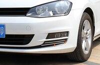 Chromed ABS Plastic 4PCS Front Fog Light Bottom Eyelid Trim For Volkswagen VW Golf 7 MK7