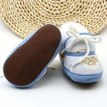 Newborn baby shoes winter anti-skid printed casual first wal