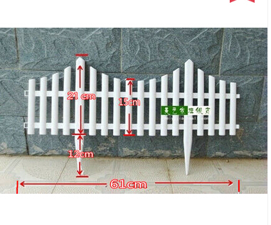 Free Shipping,10pcs/lot,60*33cm,Inserting Ground White Plastic Fence.pet  Fence.rustic Decoration.christmas Fence.garden Supplies