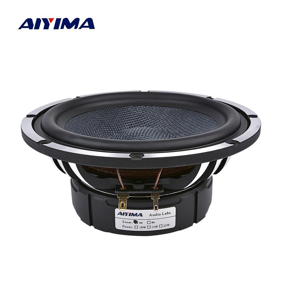 AIYIMA 6,5 Zoll Auto Horn Audio Mitten Bass Lautsprecher 4 8 Ohm 80 W Woofer Heimkino Aluminium Becken Rahmen lautsprecher