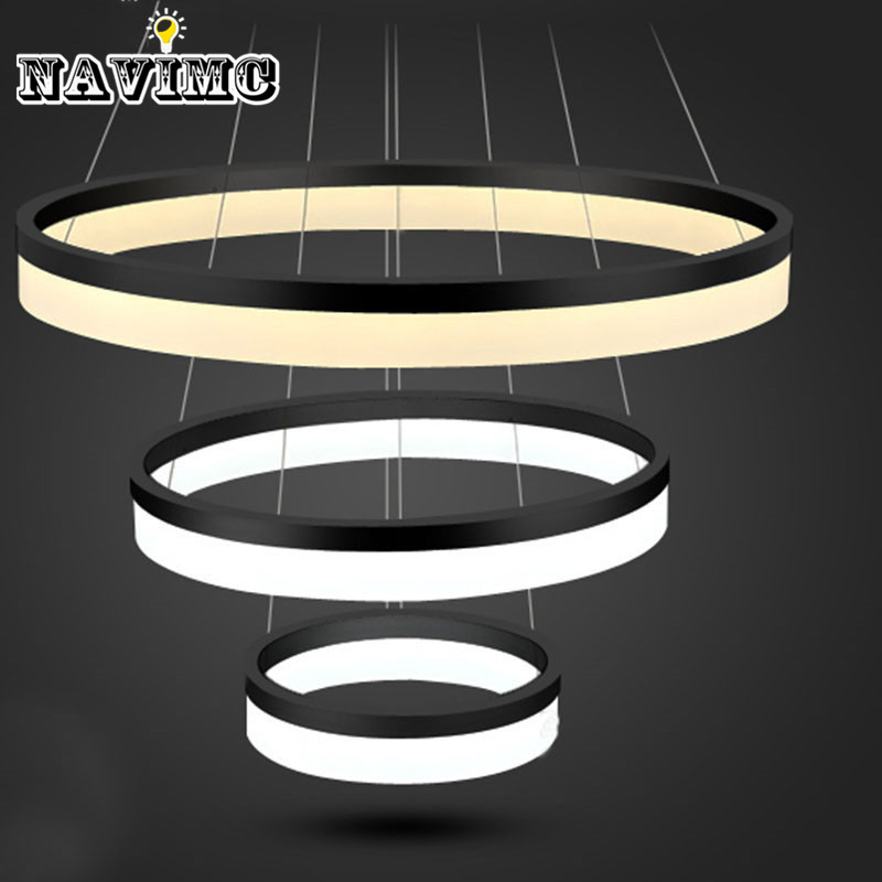 Modern Led Ring Light Arcylic Circle Led Suspension - Lamp Led Circle