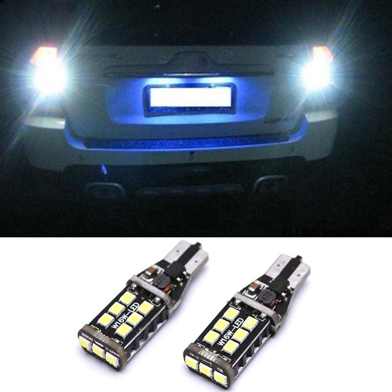2X Canbus T15 W16W 2835 SMD 15 LED Белая резервная лампа заднего хода для автомобиля Kia Rio Sportage 2014 K2 K3 K4 K5 Sorento Cerato Soul
