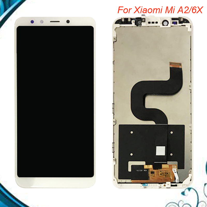 5pcslot For Xiaomi Mi A2 Xiaomi Mi 6X LCD Screen Display+ Touch Digitizer Assembly With Frame IN Stock