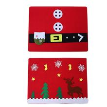 Placemat Dining Tableware Mat Christmas Forks Knife Cutlery Holders Table  Mat Coasters Non Woven Fabric