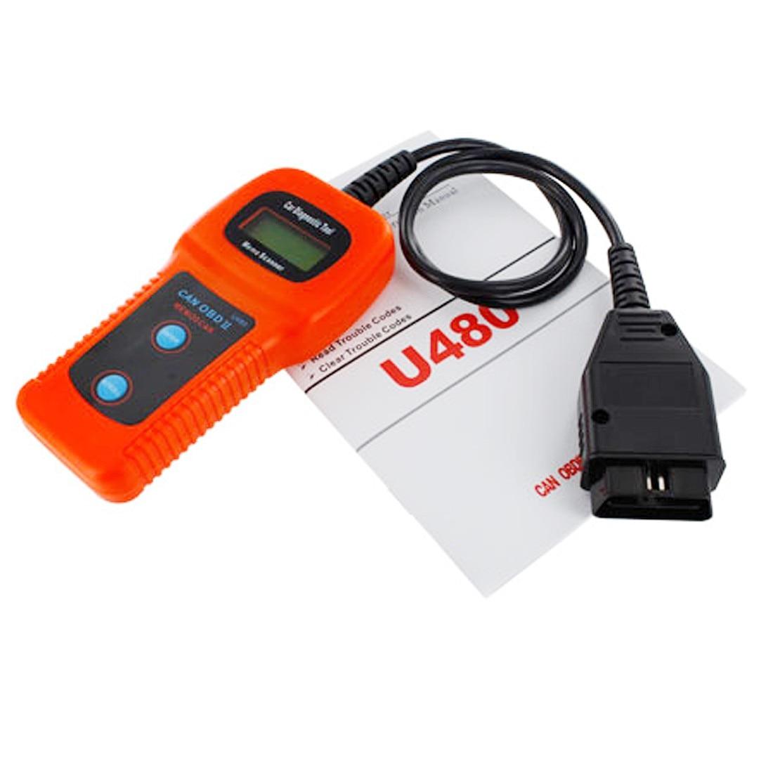 Prix pour Vente chaude nouvelle Voiture De Diagnostic Scanner Tool U480 CAN OBDII OBD2 Moteur Mémo Fault Code Reader
