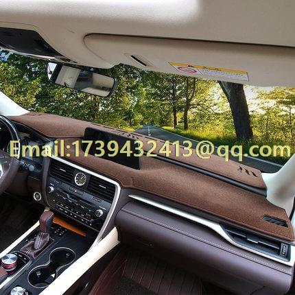 dashmats car-styling accessories dashboard cover for lexus rx200t rx300f rx350 rx450h 2016 2017 2018 new arrival for lexus rx200t rx450h 2016 2pcs stainless steel chrome rear window sill decorative trims