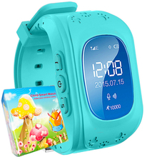 Smart watch kids q50 lcd anti perder gps rastreador smartwatch para niño de emergencia sos bluetooth para iphone android samsung teléfono reloj