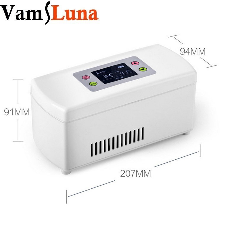 Medicamentos Drogas Reefer Caixa refrigerada Geladeira Portátil Geladeira Insulina Medicina Armazenamento a Frio Preservação Do Caso de Viagem Para Casa