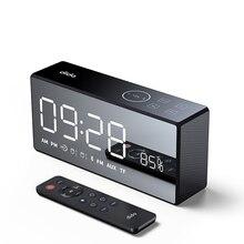 X9 беспроводной Bluetooth динамик тяжелый бас динамик s музыкальный плеер Поддержка светодиодный дисплей времени будильник TF FM радио температура