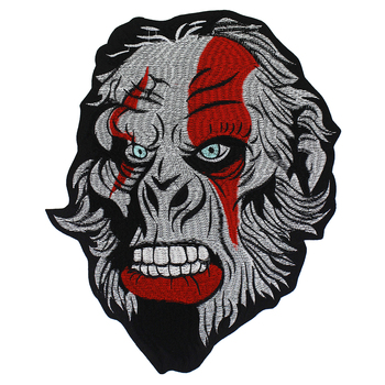 Gear Skull Sketon Patches Gorrila Head Applique Iron on Embroidery Biker Stickers Clothes Jacket Motorcycle Backpack Badge 1pc 1