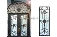 Design personnalisé porte d'entrée en fer forgé fabricant modèle hench-ied17
