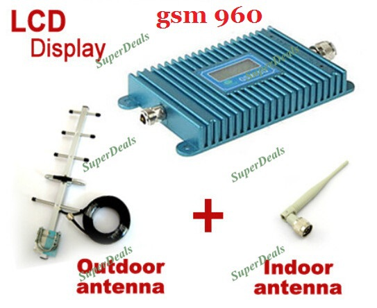 LCD Display GSM 900Mhz Mobile Phone Signal Booster , GSM Signal Repeater , Cell Phone Amplifier With Cable + AntennaLCD Display GSM 900Mhz Mobile Phone Signal Booster , GSM Signal Repeater , Cell Phone Amplifier With Cable + Antenna