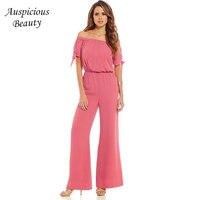 Fashion Free Shipping Retail Wholesale Chiffon Women S Slash Neck Blouses Jumpsuit Shoulder Off Bow Tie