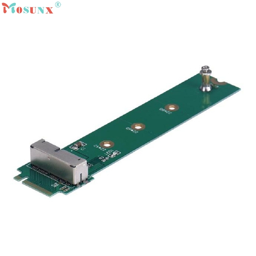 Adroit New Adapter Card To M.2 NGFF X4 For MacBook Air 2013 2014 2015 A1465 A1466 SSD drop shipping XS7329 telit ln930 dw5810e m 2 twh3n ngff 4g lte dc hspa wwan wireless network card for venue 11