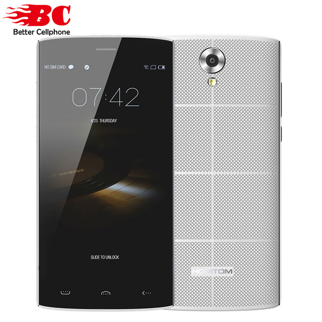 En stock homtom ht7 5.5 pulgadas android 5.1 mtk6580 quad core teléfono móvil Ram 1 GB Rom 8 GB 3000 mAh Batería WCDMA 3G 1280*720 Smartphone