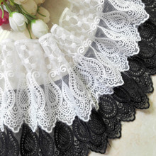 Meter Water soluble lace trim fabric milk silk ribbon hollow for Sewing Bridal Wedding dress Crafts