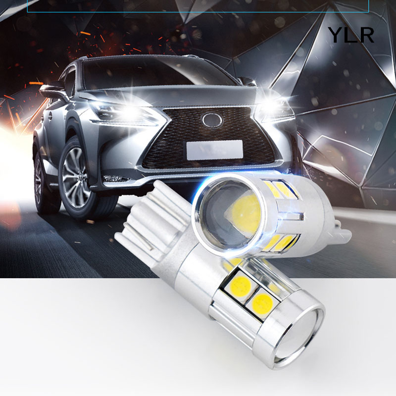 2x YLR t10 led Bulb w5w LED Car DRL 3030 5/9 SMD 194 168 Clearance Lights Reading Interi ...