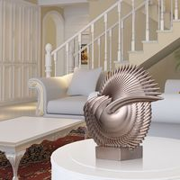 Subtle Leaves Fiberglass Sculpture Vivid Delicate Home Interior Decoration Original Design Spine Leaf Room Living Room Ornament