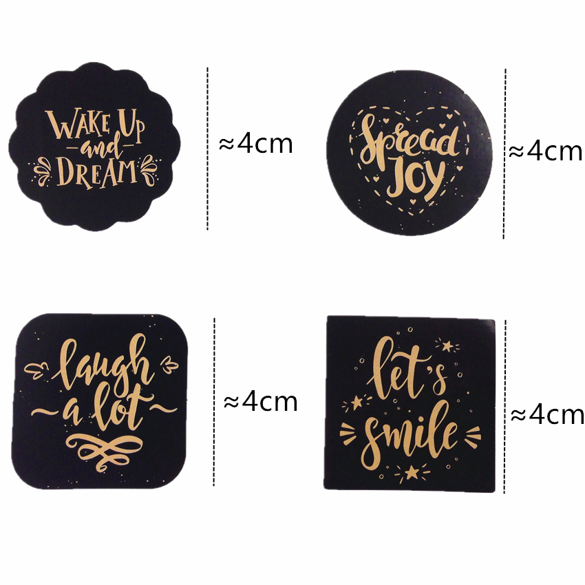 Купить с кэшбэком 80pcs/lot English Greetings Blessing Best Wishes Gloss Seal Label Sticker DIY Diary Decoration Sticker DIY Three Color Selection